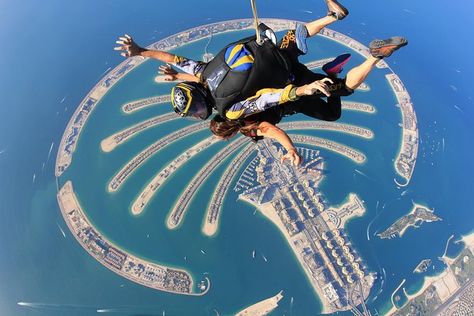 Tandem Skydive Palm- Must do in Dubai with hotel pick up