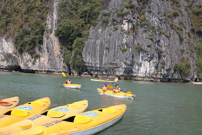 Full-Day Halong Bay Islands, Cave, Kayak. Lunch. NATIONAL HIGHWAY Transfer