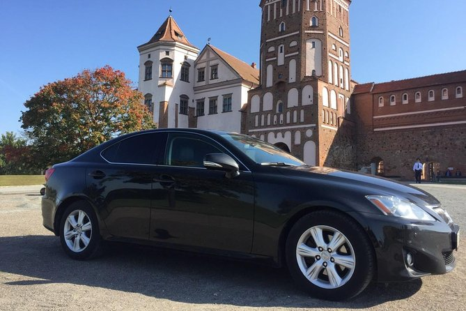 Sightseeing Tour to Mir Castle by Lexus with English-speaking Driver