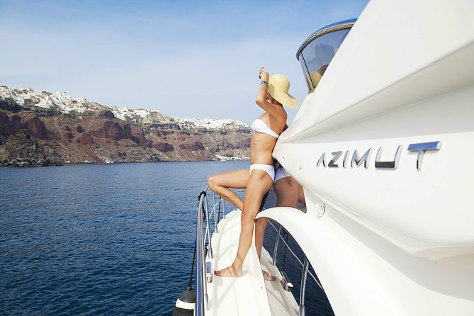 Private Motor Yacht Cruise in Santorini with BBQ and Drinks photo 3