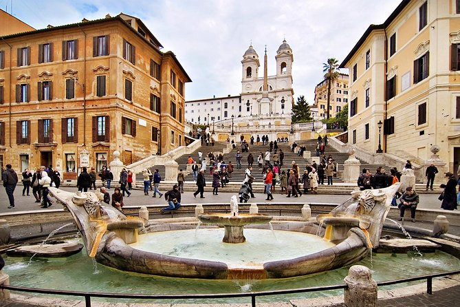 Rome by night: Piazza di Spagna, Trevi fountain, Pantheon, Piazza Navona