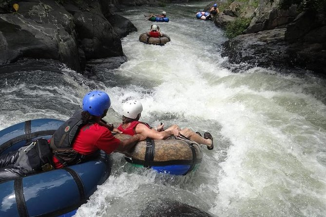 Tubing at Canyon River, Canopy and Hot Spring Combo Tour From Playa Hermosa