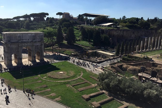 View from the 3rd tier over the Arch of Constantine