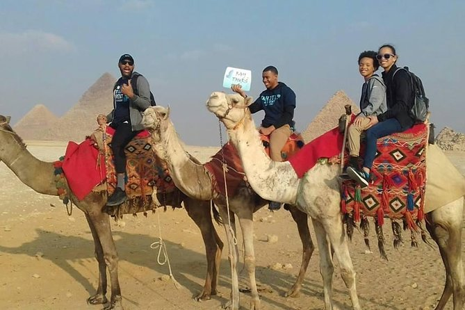 Private sightseeing Tour: Giza Pyramids & Memphis & Saqqara & camel ride