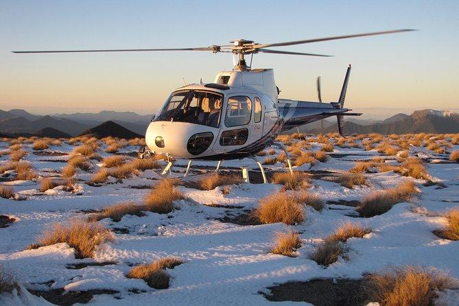 Winter Alpine landing