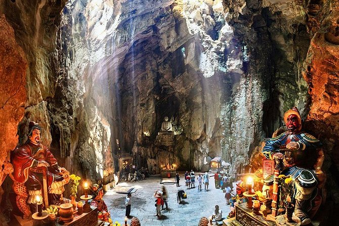 Group Tour Marble Moutain & Monkey Moutain & Da Nang By Night