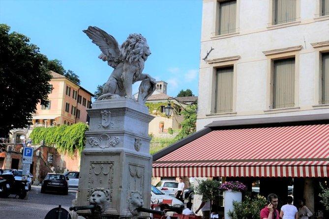 Prosecco region cellar visit, wine tasting, Palladian Villa, medieval village
