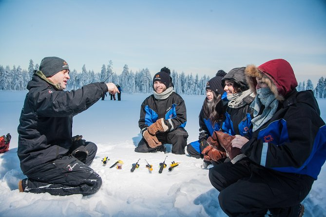 Lappish Lunch Break -Snowmobiling, ice fishing and tasty food