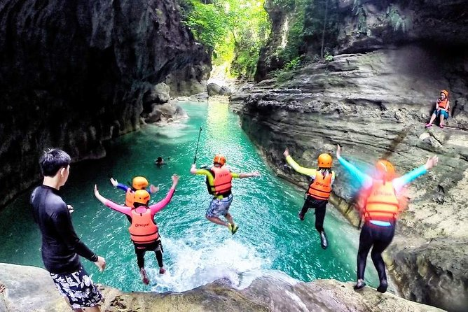 Full Day Canyoning and Whaleshark Adventure from Cebu City or Mactan Area