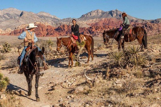 Twee uur paardrijden door de Red Rock Canyon