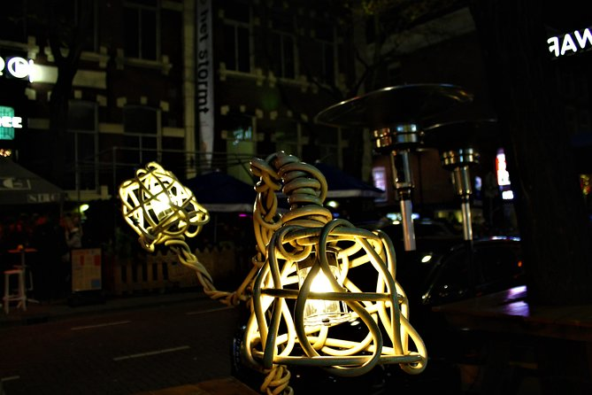 Creative lighting on the Witte de With street