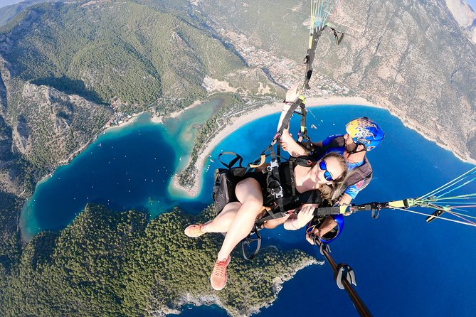 Tandem Paragliding Over The Blue Lagoon in Fethiye From Kas Inc.Transfer