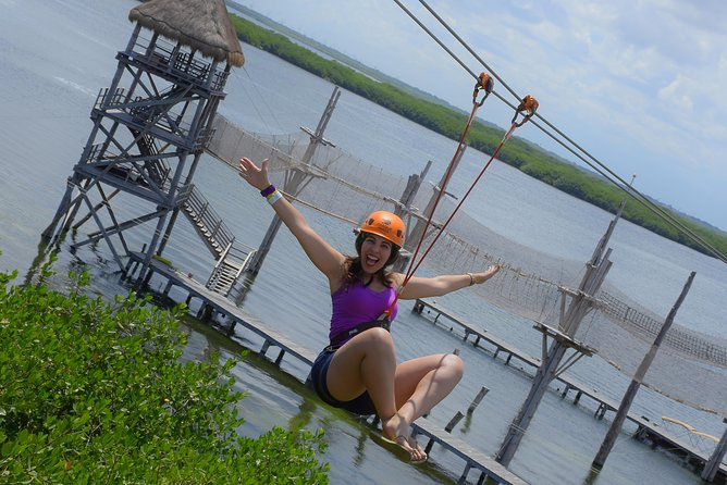 Cancun ziplines and mangrove sightseeing tour photo 1