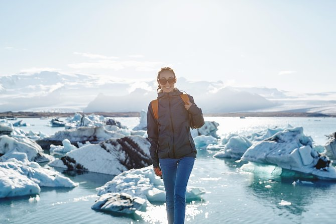 Excursion privée du lagon glaciaire de Jökulsárlón et de la côte sud au départ de Reykjavik