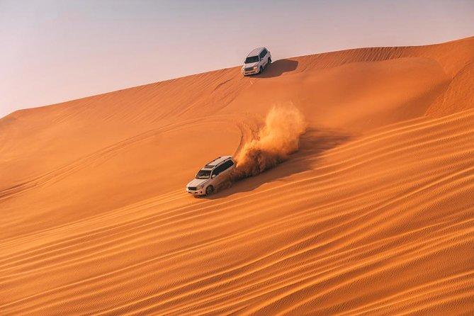 Arabian Desert Safari, BBQ Dinner, Camel Ride, Sand Boarding ATV & Live Show's