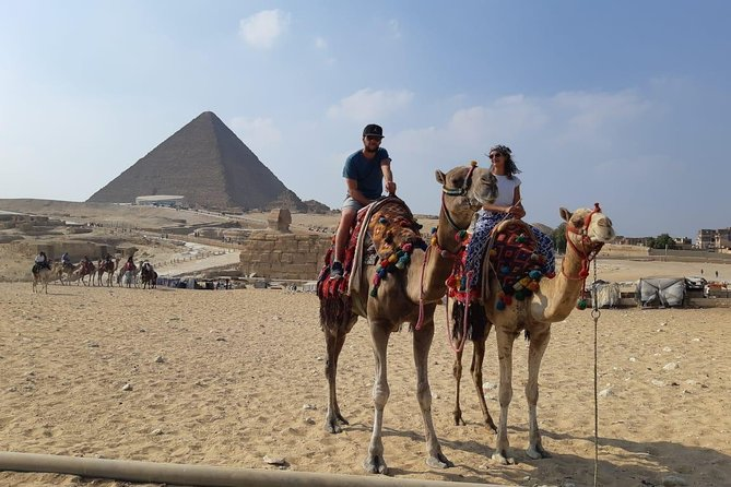 Full Day Private Tour Giza Pyramids Sphinx, Camel Ride, Egyptian Museum & Bazaar