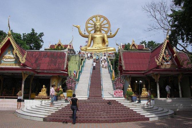 Ko Samui City Tour with Wat Phra Yai, Lat Ko Viewpoint & Hin Ta Hin Yai Rock
