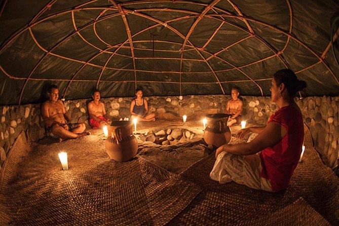 Mergulhadores Altos e Purificação Asteca Asteca Temazcal à Noite com Jantar e Bebidas