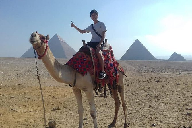 Explore the Pyramids, Egyptian Museum, Khan el-Khalili with Camel Ride, Lunch