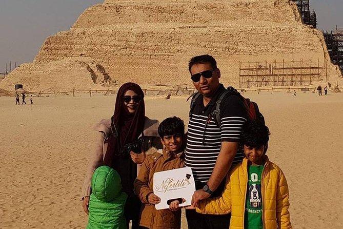 A day tour of Giza Pyramids,Saqqara Pyramid& Dahshour Pyramids ( All inclusive )
