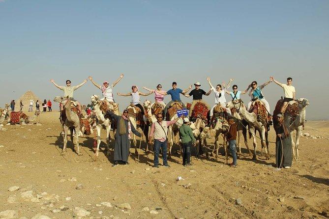 Sunrise camel ride at Giza pyramids