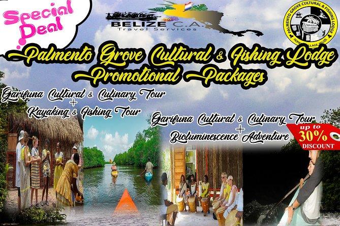 Garifuna Cultural Culinary Adventure & Freshwater Kayaking,Fishing Combo