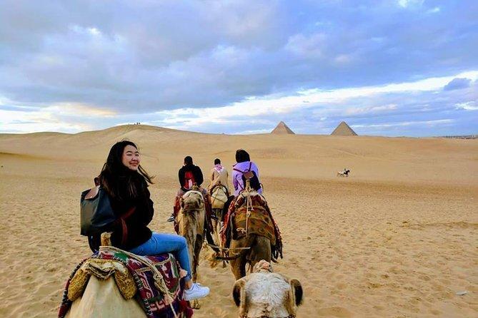 Best Day Tour Giza Pyramids Sphinx Memphis & Saqqara & Camel