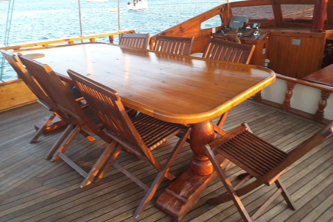 Private half day sailing yacht cruise for max 40 Quests Panormitis