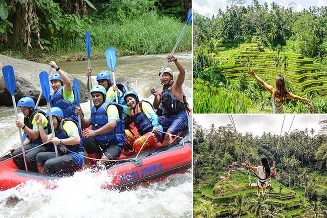 White Water Rafting Bali, Tegalalang Rice Terrace, and Jungle Swing