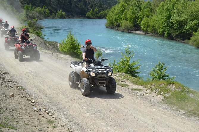 quad bike safari at koprucay river in side turkey
