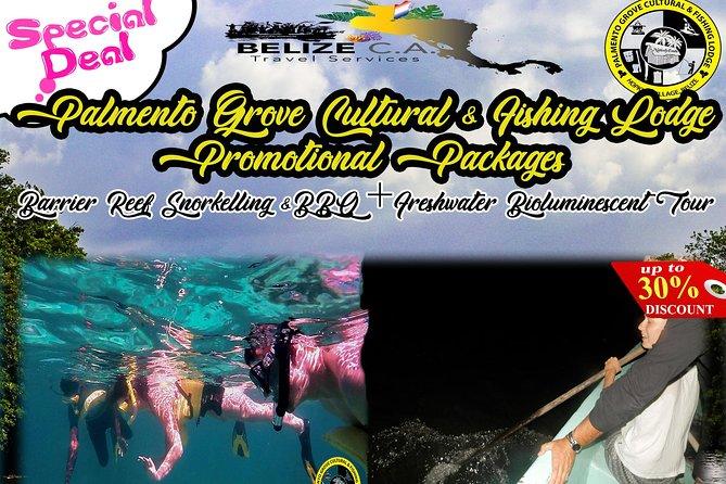Belize Barrier Reef Snorkeling & Fresh Water Creek Bio-luminescent Tour