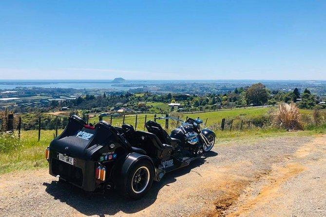 V8 Trike Guided Tour to Mount Maunganui Main Beach