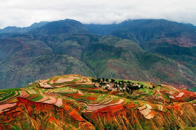 Two Days Colorful Private Tour from Kunming to Dongchuan Red Land
