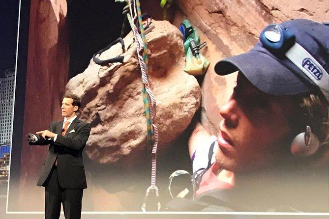 Aron Ralston trapped in Bluejon Canyon