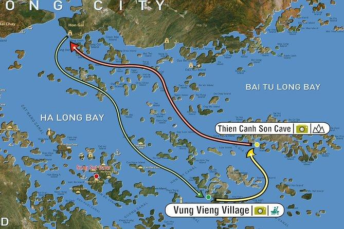 2 Days 1 Night on Swan Cruises visiting Bai Tu Long bay Thien Canh Son cave