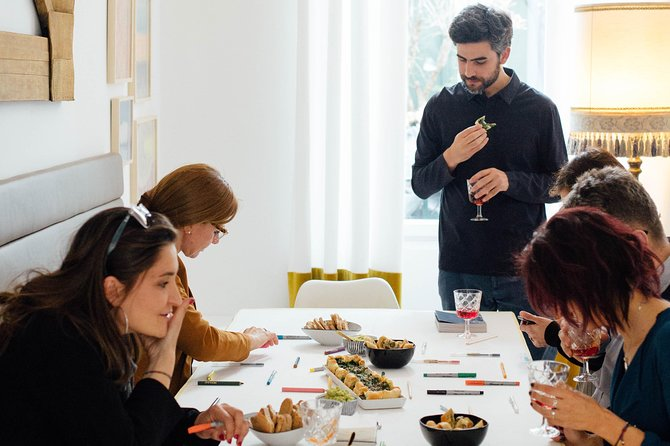 Aperitif with the artist: supper club, workshop and performance.
