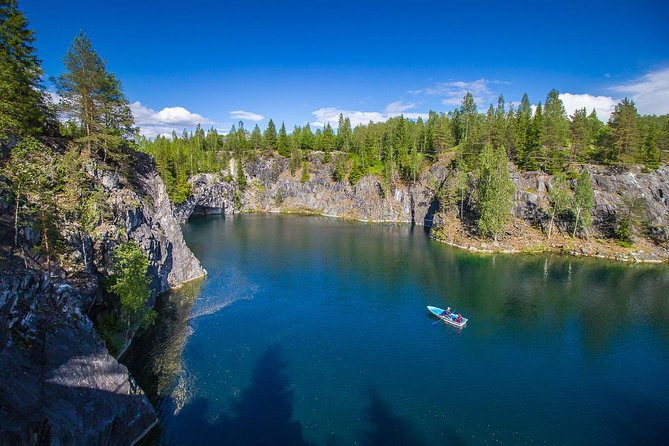 Private Tour to Ruskeala Mountain Park: Admire World's Unique Marble Canyon