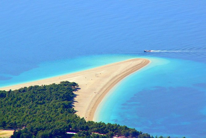 Private Brac Island & Golden cape beach by yacht from Korcula Island