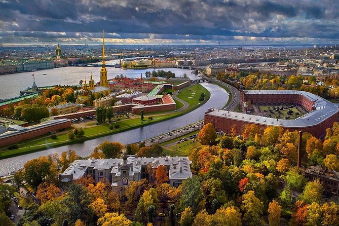 St Petersburg Private helicopter flight and Open-Air Museum with 3-Course Lunch