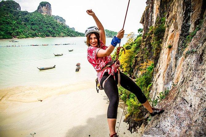Half Day Rock Climbing Tour Railay Beach, Krabi