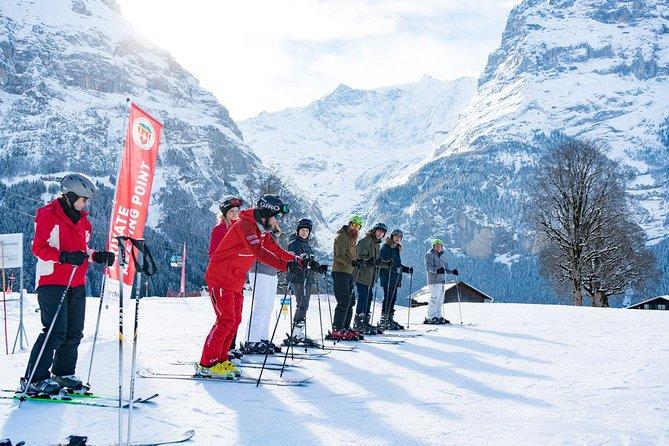 Beginners ski- of snowboardles van een halve dag in Grindelwald, Interlaken