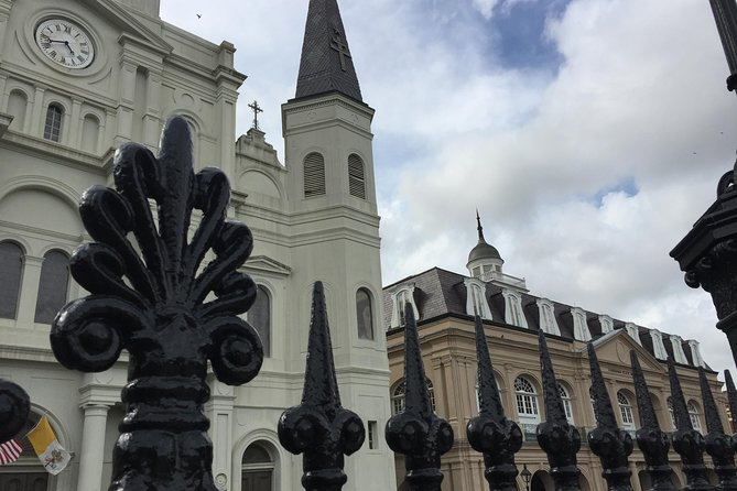 St. Louis Cathedral through old iron fence