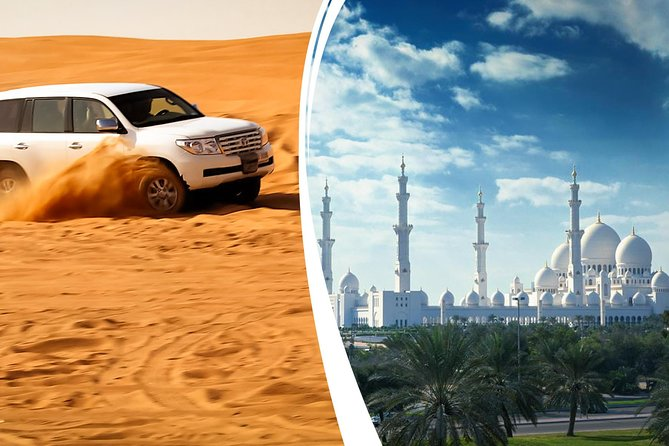 Dubai Desert Safari with BBQ Dinner and Abu Dhabi City Tour (COMBO)