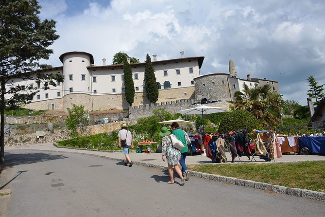 Trip to Stanjel castle wine tasting and gourmet lunch 6 courses from Ljubljana