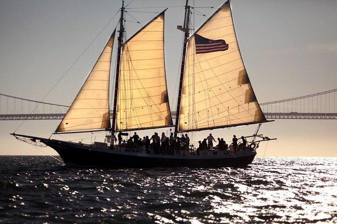 Freda B sailing passed the Golden Gate Bridge