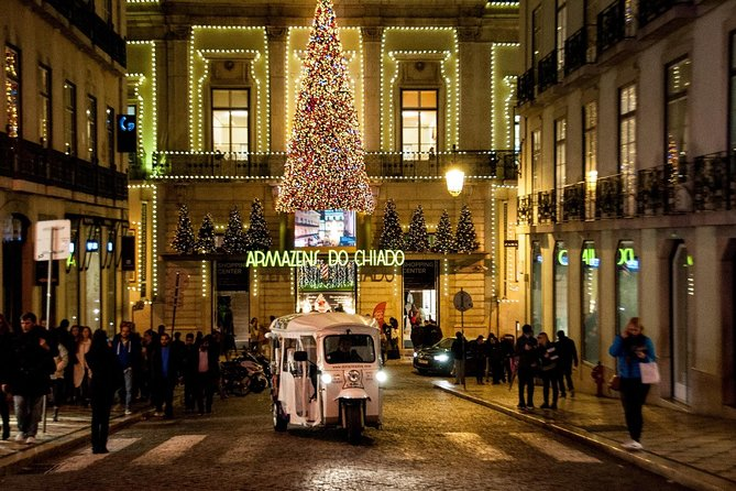 Lisbon: Christmas Street Lights Tour on a EcoTuk - Exclusive Experience