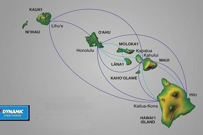 오아후섬, 마우이섬, 카와이섬, 빅아일랜드 코나, 빅아일랜드 힐로