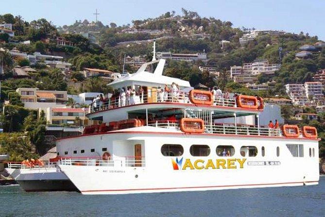 Acapulco Acarey Yacht Cruise Open Bar Sunset Tour