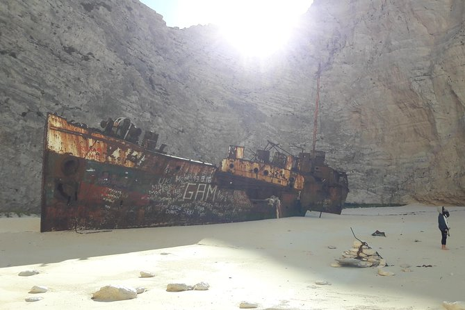 Zakynthos island: One day tour to Navagio Shipwreck Beach Blue Caves & top view