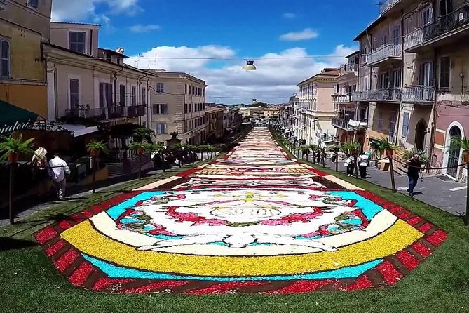 Infiorata of Genzano private day-trip from Rome with lunch or dinner included